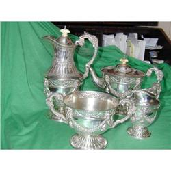 STERLING COMYMS TEA AND COFFEE SERVICE #2394782