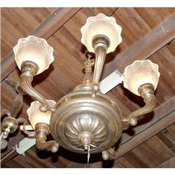 5L French chandelier with original shades #2395001