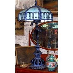 "Nouveau Table lamp metal glass 40"" tall #2395005"