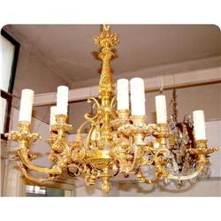 French Bronze foundry 12 lights Chandelier #2395021
