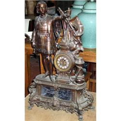 French Mantle clock figural statue Columbus #2395027