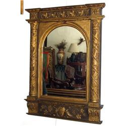 Empire French Carved Mirror gold Gilt   #2395031