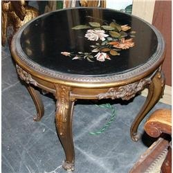 Giltwood Empire Pietra Dura Marble top coffee #2395035