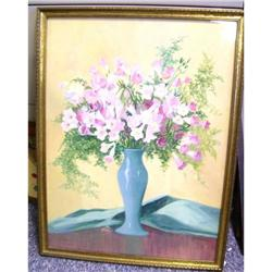 Grace Buttrah Water color of flowered vase #2395214