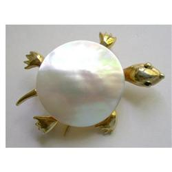 Jonette Turtle Pin - Mother of Pearl Shell #2375577