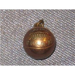 Antique Copper and GOLD FILLED Basketball Charm#2375591