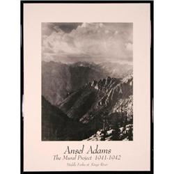 Middle Forks at Kings River Ansel Adams Print #2375627