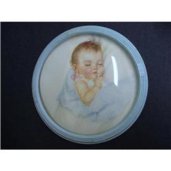 CHARMING BUBBLE GLASS PICTURE - BABY SLEEPING  #2375648