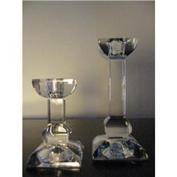 Villeroy & Boch pair of crystal candle holders!#2375678