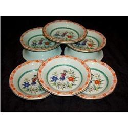 "8 Adams Calyx Ware ""The Piper"" HP Berry Bowls #2375732"