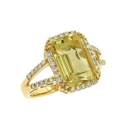 Cushion Cut Yellow Quartz #2375874