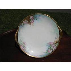 T & V LIMOGES H. PAINTED CAKE PLATE #2375957