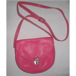 ROOTS Canada Pink Pebble Grain Leather Shoulder#2375967
