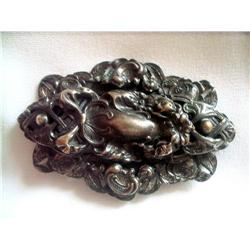 Huge Victorian Revival Brooch Goth Style #2375996