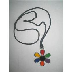 Boho Chic Enamel Flower Child Pendant Necklace #2376063
