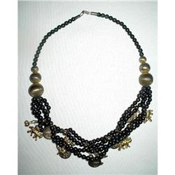 Charm Necklace Mid-Eastern Brass Animal Charms #2376096