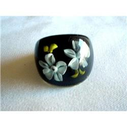 Lucite Ring Pop Art Reverse Carved Size 8 #2376130