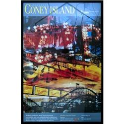 Framed Coney Island MTA Poster #2376215