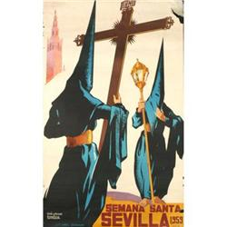 Unknown  Semana Santa Sevilla Lithograph #2376220