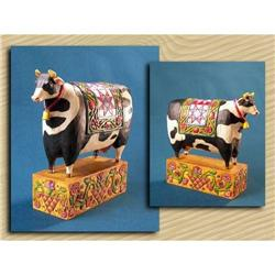 Cow Folkart Statue * JIM SHORE HEARTWOOD CREEK #2376655