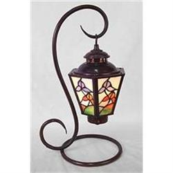 GLASS PANELED PARLOR LAMP / NEW #2376678