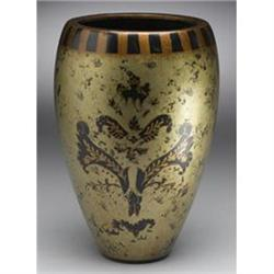 BURNISHED GOLD PAINTED PORCELAIN VASE NEW #2376687