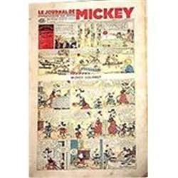 OLD FRENCH DISNEY MICKEY MOUSE sunday comics #2376862