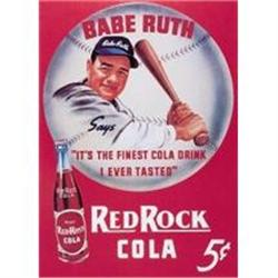 BABE RUTH RED ROCK SODA TIN SIGN REPRODUCTION #2377176