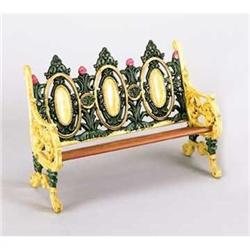 CAST IRON DOLL BENCH  / NEW #2377199