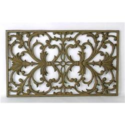CAST IRON ORNATE WALL HANGING PLAQUE #2377237