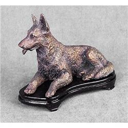 BRASS GERMAN SHEPHERD DOG STATUE #2377244