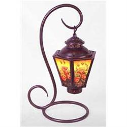 FLORAL PANELED TABLE LAMP #2377245