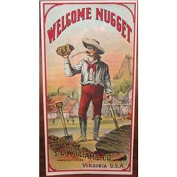 WELCOME NUGGET TOBACCO LABEL / OLD VINTAGE #2377246