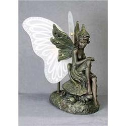 RESIN FAIRY LAMP W GLASS WINGS / NEW #2377258