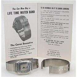 VINTAGE STAINLESS STEEL WATCHBAND 1950S #2377260