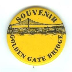 VINTAGE 1937 GOLDEN GATE BRIDGE PINBACK PIN #2377273