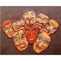 8 VINTAGE DEVIL AND FRIENDS HALLOWEEN MASKS #2377276