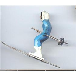SALE Girl Skier Metal Cast #2377286