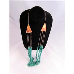 Vintage Estate Turquoise and Shell Necklace #2377478