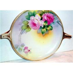 Hand Painted Nippon Rose Decorated Dish #2377489