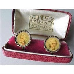 Vintage earrings with portraits of Mozart #2377605