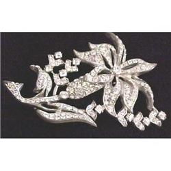 Art Deco all rhinestone flower pin #2377607