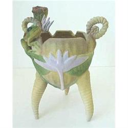 Art pottery frog vase by Nancy Adams #2377608