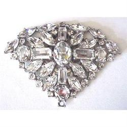 Large all rhinestone Art Deco dress clip #2377611