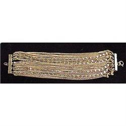 Twenty six strand gold chain bracelet #2377620