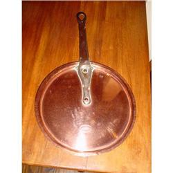 Antique French copper pan lid #2377623