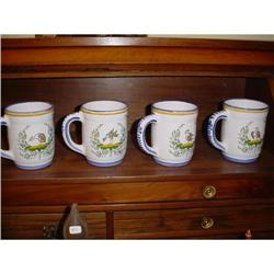 Pair of French mugs made by artist Renoleau #2377624