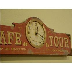 French wall clock Cafe de la Tour #2377628