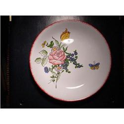 Pair of French faience plates signed by artist #2377633