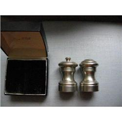 Imperial Pewter salt & pepper original box! #2377639